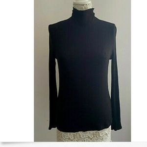 Rachel Zoe Black Mock Neck Sweater Medium